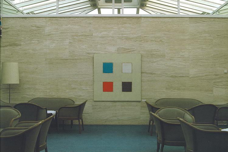 """""""Oranta"""", 2003, Acryl auf MDF, 132 x 132 cm, Sammlung Katholische Akademie, München. Foto Peng Li"""