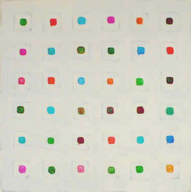 """Oleksiy Koval, """"Coph"""" 2003, 132 x 132 cm. Acryl on MDF. Private collection Munich."""