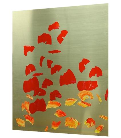 """""""Duell"""" Mixed Media auf Aluminium, 65,5x52,5 cm, 2012 Oleksiy Koval, Stefan Schessl"""