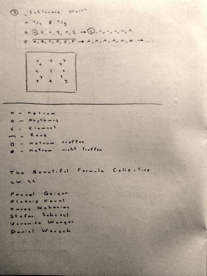 Kompositionen für die Veranstaltung am 15.03.2012 @LW44