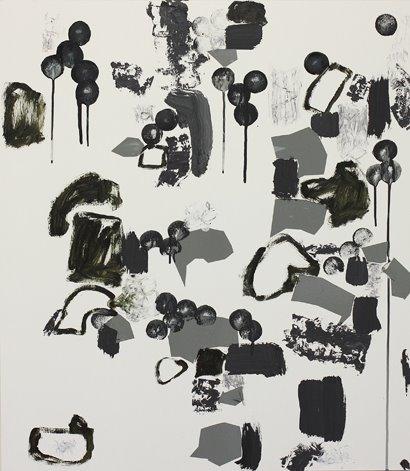 """""""Sublunare Welt"""" Mixed Media auf FPY, 80x70 cm, 2012  Pascal Geiger, Oleksiy Koval, Kuros Nekouian, Stefan Schessl, Veronika Wenger, Daniel Worsch"""