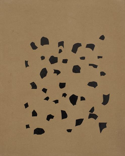 """Oleksiy Koval, """"Oracal"""", 2011, 75 x 60 cm, adhesive foil on MDF. Photo © Klaus Mauz"""