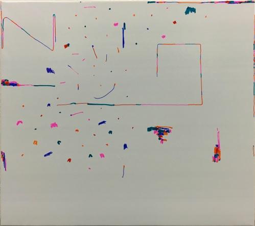 Algorithm Oleksiy Koval, 2016 90 x 100 cm, marker on foil
