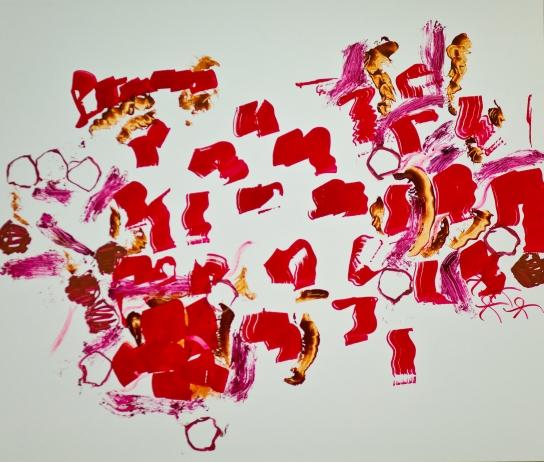 """""""Stalker"""" Mixed Media auf FPY, 100 x 126 cm, 2012 Daniel Geiger, Oleksiy Koval, Kuros Nekouian, Stefan Schessl, Veronika Wenger, Pascal Worsch"""