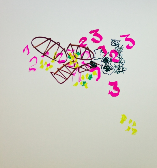 """Surrogate"" Mixed Media auf FPY, 150 x 140 cm, 2012. Daniel Geiger, Oleksiy Koval, Kuros Nekouian, Stefan Schessl, Veronika Wenger, Pascal Worsch. Photo © Ronny Waleska"