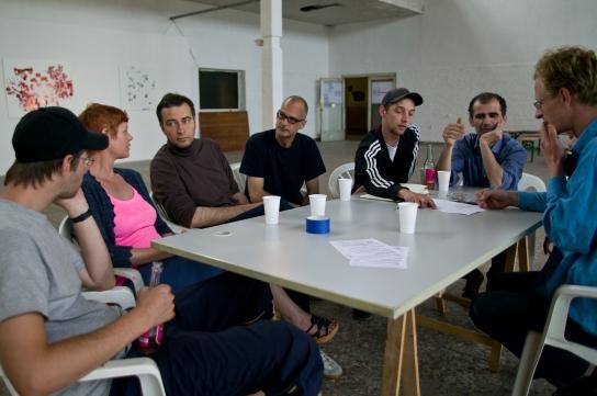 Pascal Worsch, Veronika Wenger, Oleksiy Koval, Kuros Nekouian, Daniel Geiger, Stefan Schessl, Sebastian Denra. Photo © Ronny Waleska
