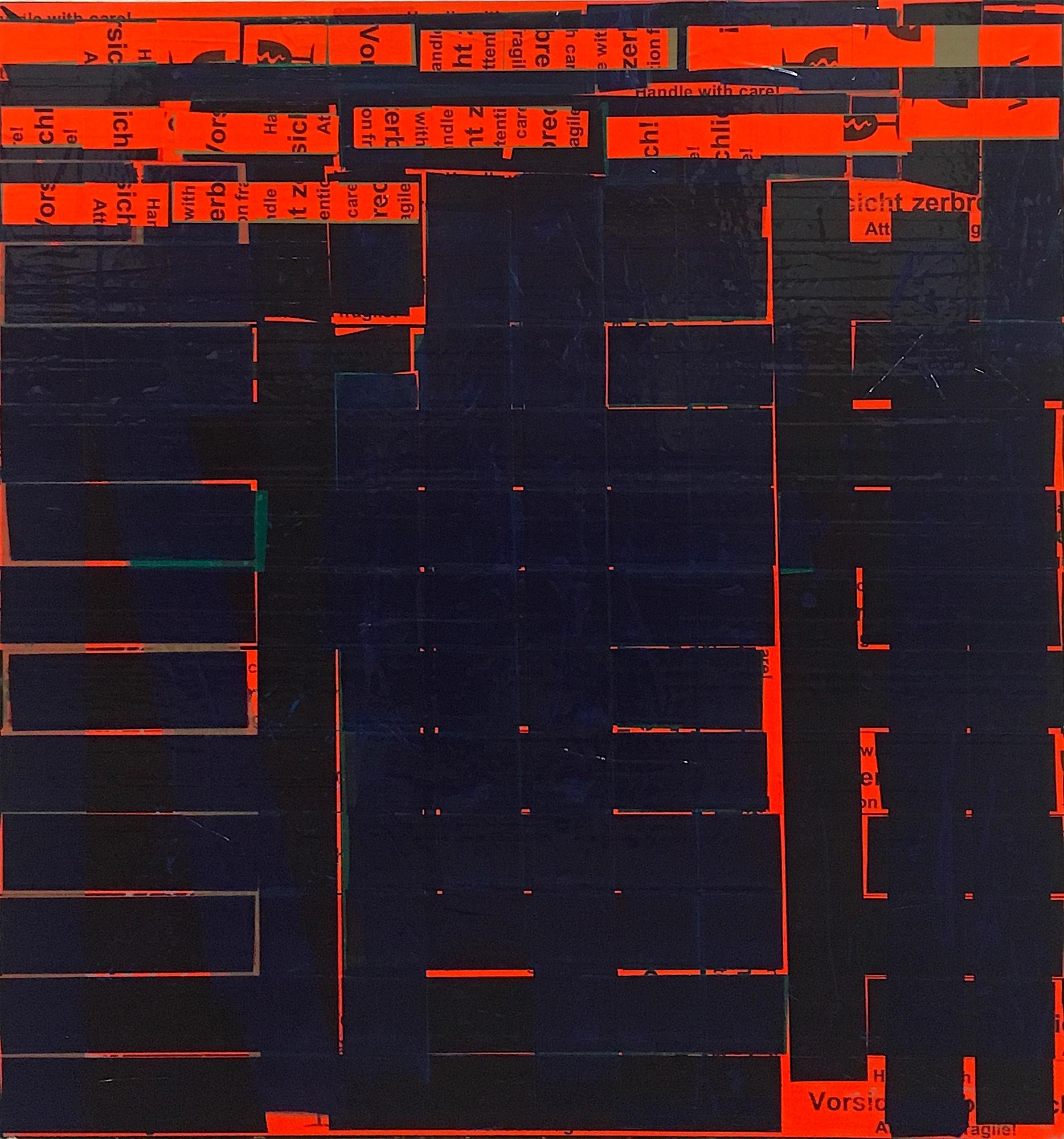 Melancholiker Oleksiy Koval, 2016 65 x 60 cm, tape on FPY