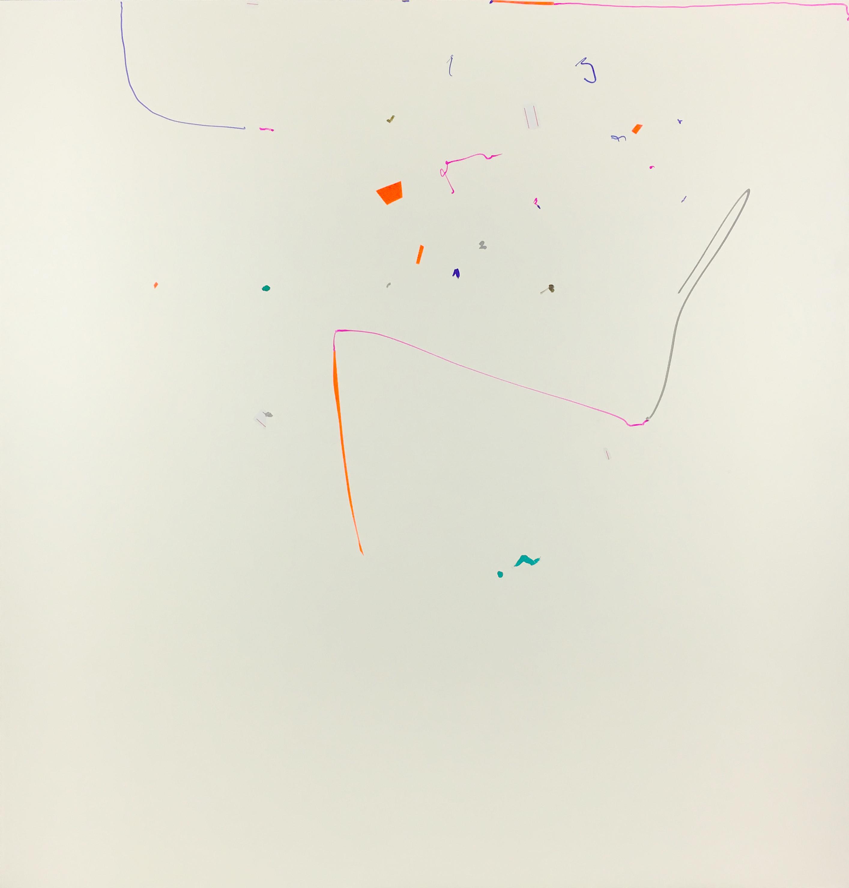 Melancholiker Oleksiy Koval, 2016 73 x 70 cm, marker, tape on FPY