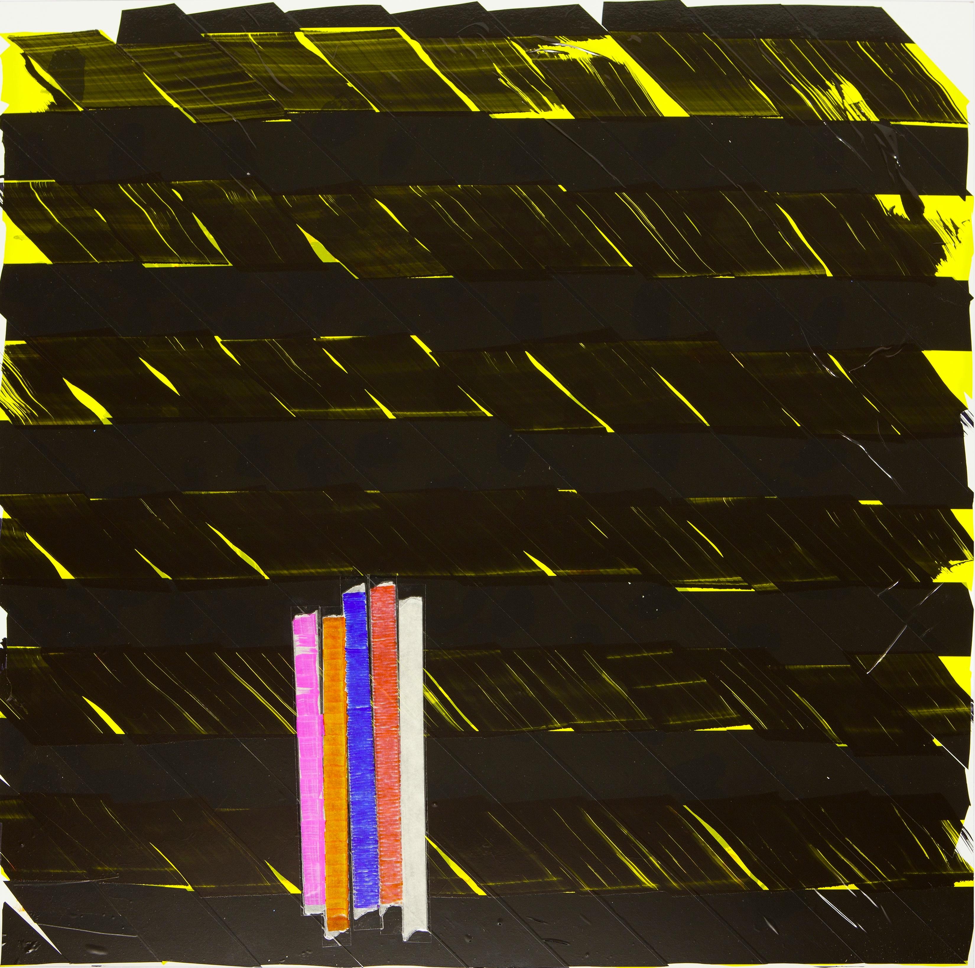 Schar Oleksiy Koval, 2015 70 x 70 cm, tape, marker on FPY Photo © Klaus Mauz