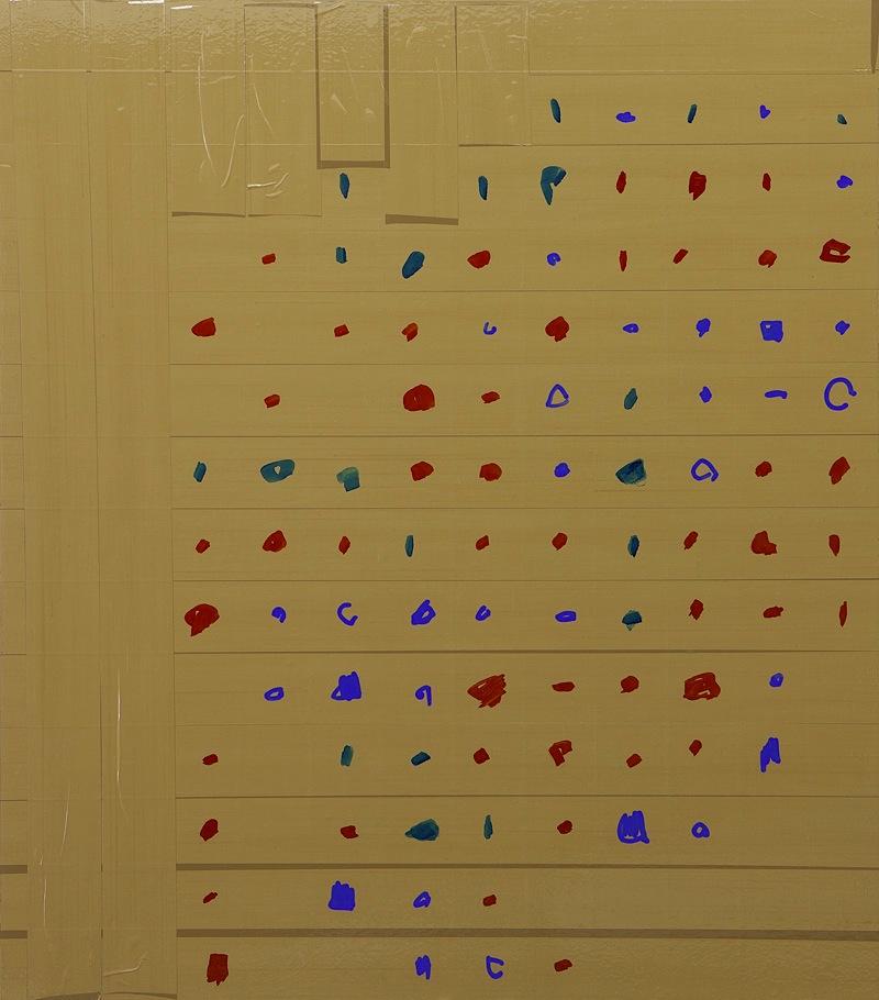 "Oleksiy Koval, ""Stalker"", 2013, 70 x 60 cm, marker, tape on MDF. Photo © Klaus Mauz"
