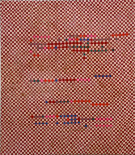 """Oleksiy Koval, """"Sublunare Welt"""", 2015, 80 x 70 cm, marker on cotton"""