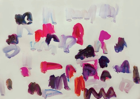"""Oleksiy Koval, """"untitled"""", 2009, 50 x 70 cm, watercolour on paper, private collection Munich. Photo © Klaus Mauz"""