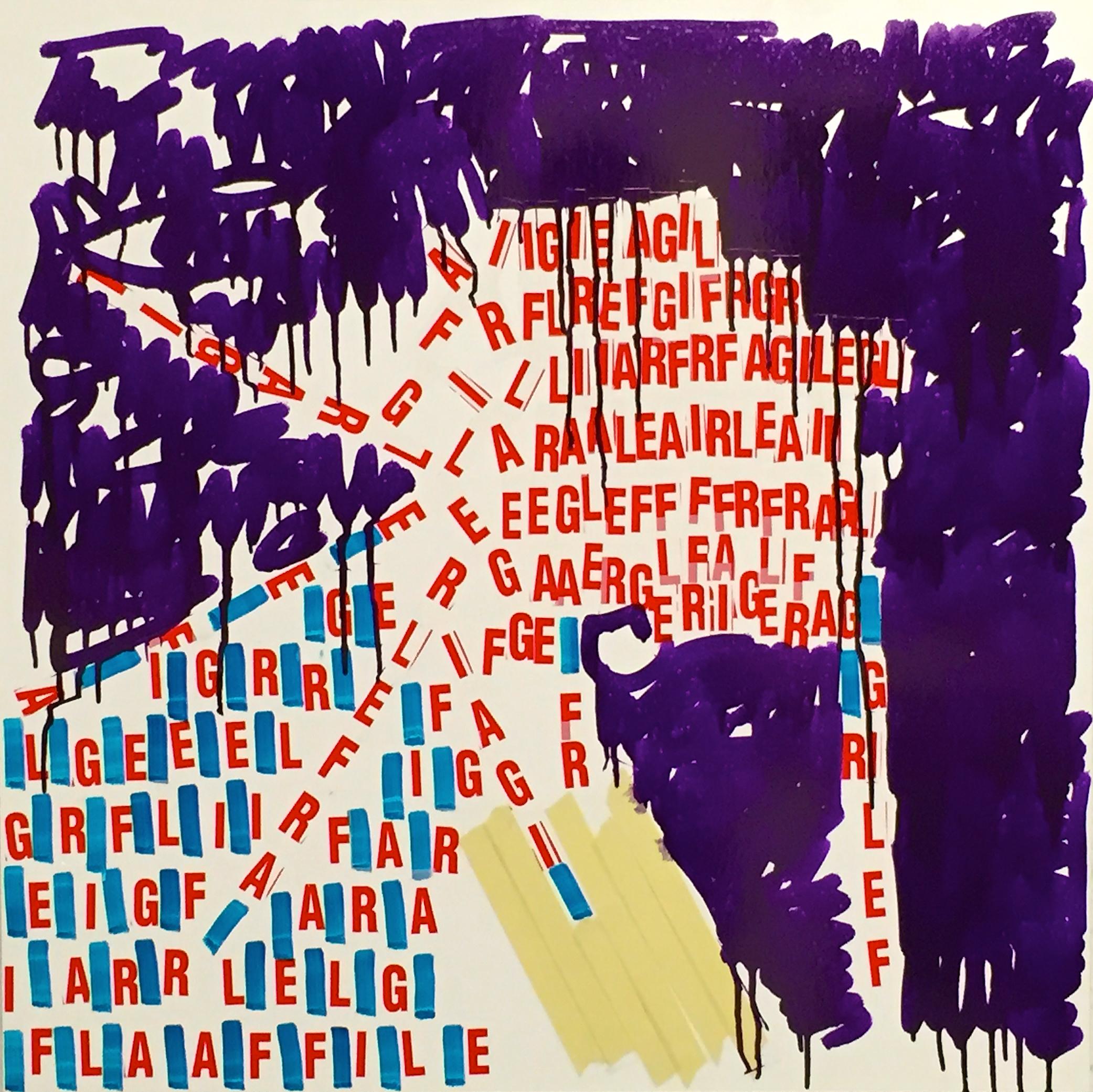 "Oleksiy Koval, ""Untitled (Schar)"", 2015, 65 x 65 cm, marker, tape on FPY."