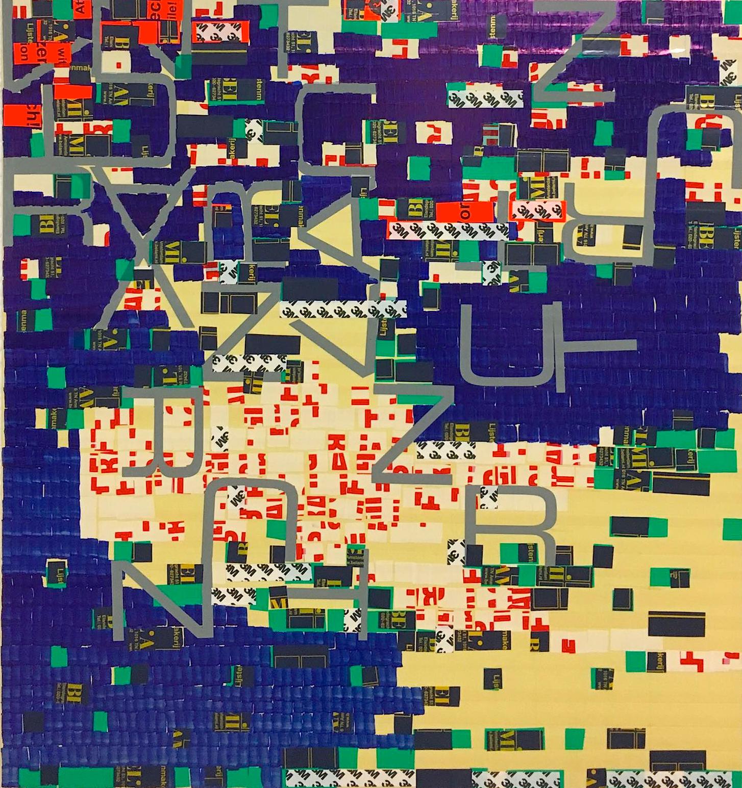 Untitled Oleksiy Koval, 2016 75 x 70 cm, marker, tape, foil on FPY