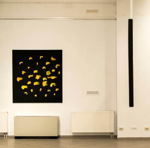 """Oleksiy Koval, """"Der gestirnte Himmel"""", 2011, 140 x 160 cm, oil on polyester, private collection, Munich. Photo © Daryna Deineko-Kazmiruk"""