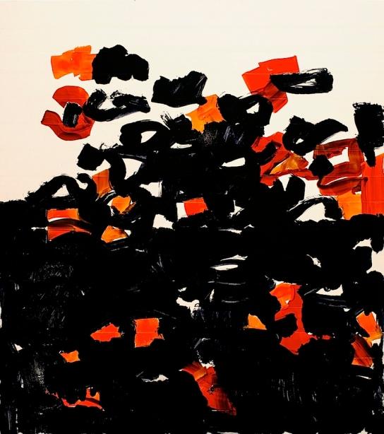"""Tlo"", Ink on FPY, 80 x 70 cm, 2012. Daniel Geiger, Oleksiy Koval, Stefan Schessl, Veronika Wenger, Pascal Worsch. Photo © Daryna Deineko-Kazmiruk"