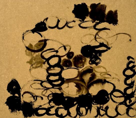 """Schar"", Ink on MDF, 60 x 70 cm, 2012. Daniel Geiger, Oleksiy Koval, Stefan Schessl, Veronika Wenger, Pascal Worsch. Photo © Daryna Deineko-Kazmiruk"