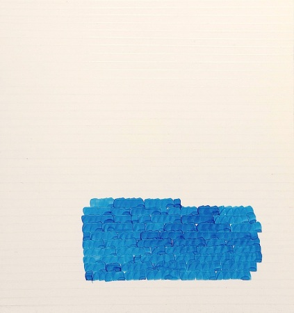 "Oleksiy Koval, ""Schar"", 2012, 55 x 50 cm, marker, packing tape on FPY, private collection, Starnberg. Photo © Klaus Mauz"