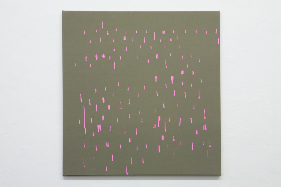 "Oleksiy Koval, ""11123"", 2012, 70 x 67 cm, marker on polyester. Photo © Klaus Mauz"