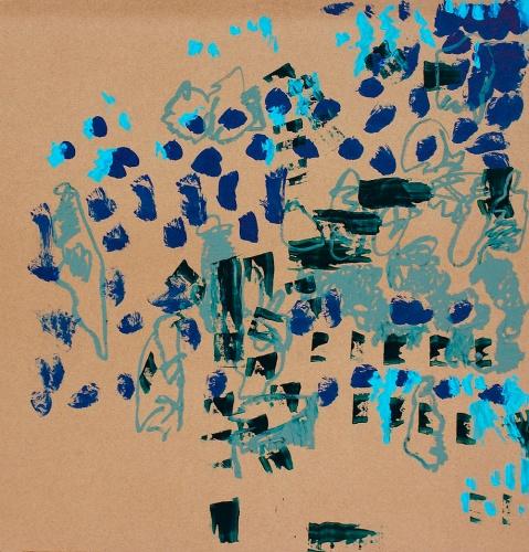 "Daniel Geiger, Oleksiy Koval, Kuros Nekouian, Veronika Wenger, ""Untitled"", Munich 2013, mixed media on MDF, 110 x 100 cm. Photo © The Beautiful Formula Collective"