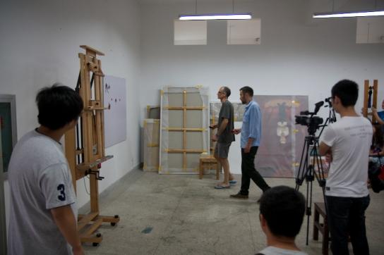 Oleksiy Koval, Kuros Nekouian, Hubei Institute of Fine Arts, Wuhan 2013