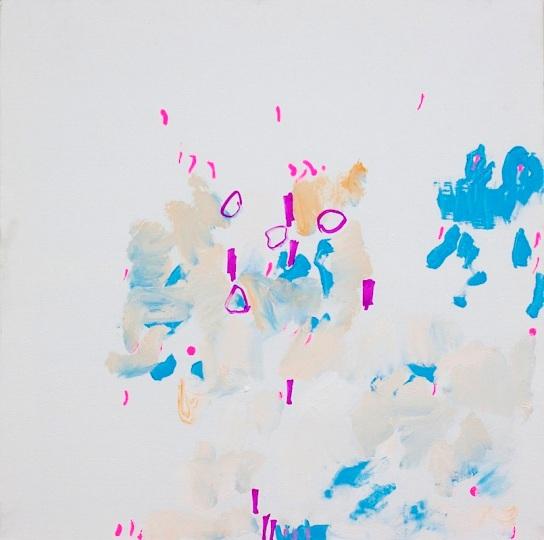 """Stalker"", mixed media on canvas, 60 x 60 cm, Tehran, 2013. Daniel Geiger, Oleksiy Koval, Kuros Nekouian, Veronika Wenger. Photo © The Beautiful Formula Collective."
