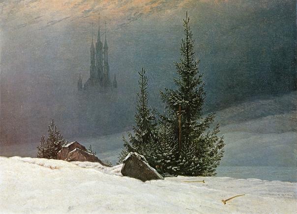 Caspar David Friedrich: Winterlandschaft mit Kirche, 1811
