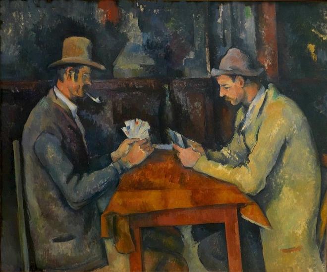 Paul Cézanne, Les joueurs de cartes (The Card Players), 1892-95, oil on canvas, 60 x 73 cm, Courtauld Institute of Art, London