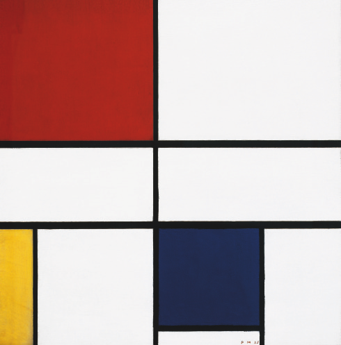(img. 8) Composition C (no.III), with Red, Yellow and Blue, 1935 by Piet Mondrian