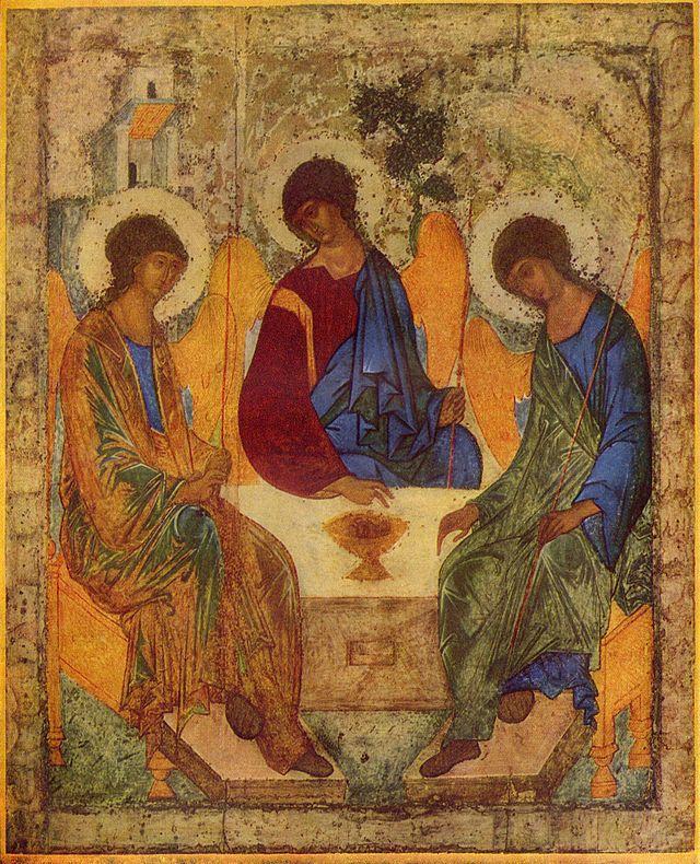 Dreifaltigkeitsikone von Andrej Rubljow