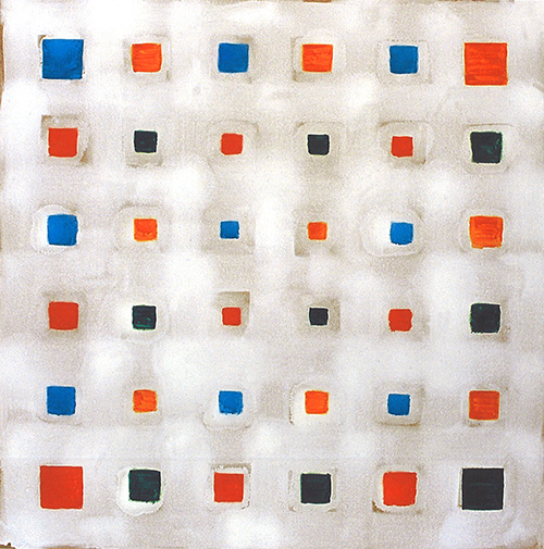 Oleksiy Koval, Lamed, 2002, acrylic on MDF, 132 x 132 cm  Private collection Munich.