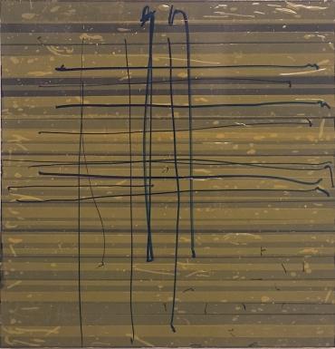 Melancholiker Oleksiy Koval, 2015 73 x 70 cm, marker, tape on FPY