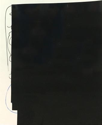 Ebbe Oleksiy Koval, 2018 50 x 40 cm, marker, foil, knife on FPY
