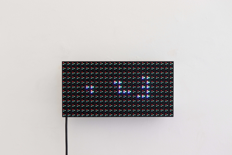 1, 2, 3 Oleksiy Koval, 2018 16 x 32, LED Karin Wimmer Contemporary Art, Munich  Photo © Rhythm Section