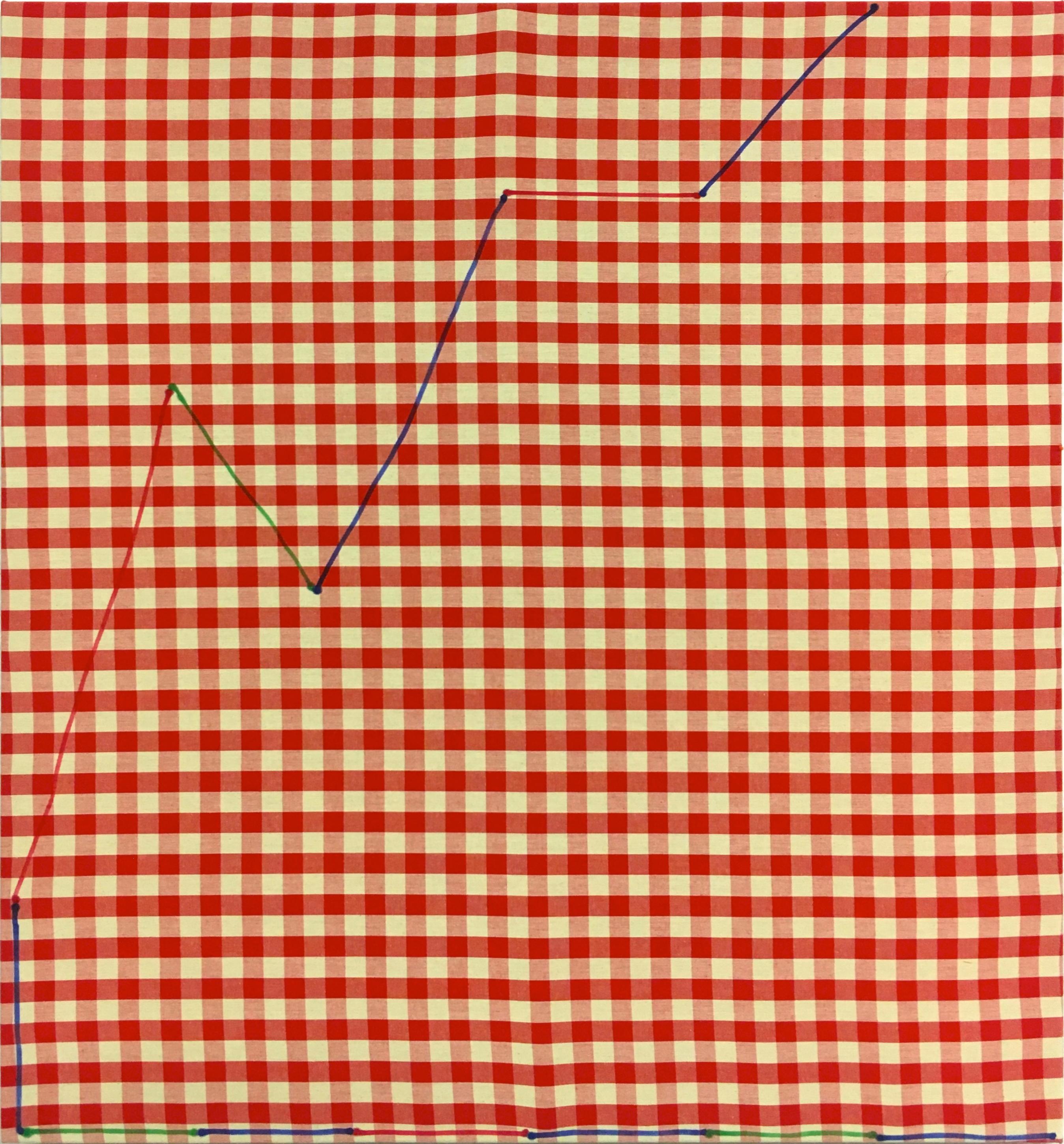 12:13 D Oleksiy Koval, 2019 Marker on cotton, 89 x 83 cm