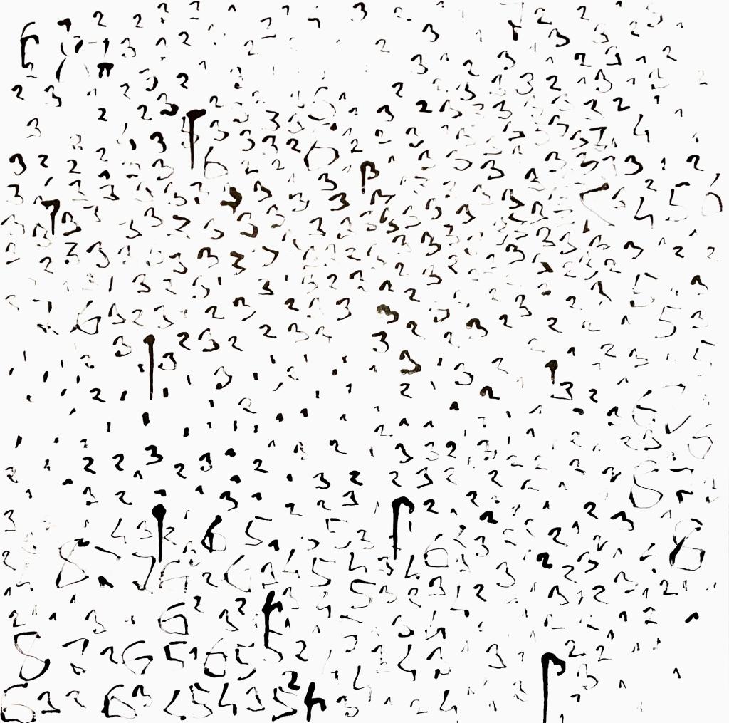 Horror Vacui Oleksiy Koval, 2021 50 x 50 cm, ink on PVC